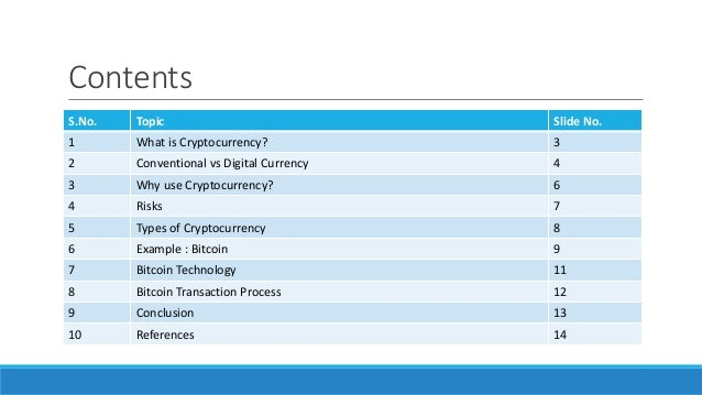 Why would cryptocurrency be used