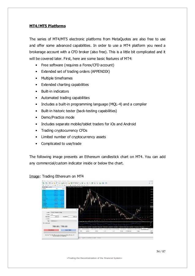 ««TTrraaddiinngg tthhee DDeecceennttrraalliizzaattiioonn ooff tthhee FFiinnaanncciiaall SSyysstteemm»» 55 / 87 CFD Trading...