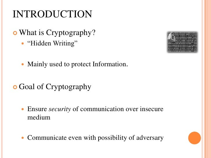 A description of explaining steganography and cryptography