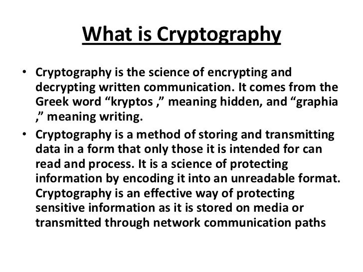 decrypting cryptography essay Of mechanical and electromechanical cryptographic cipher machines, but the usage of these was very impractical during this time, there were various developments in both mathematical and practical cryptography.