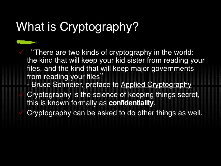 Cryptography Intro