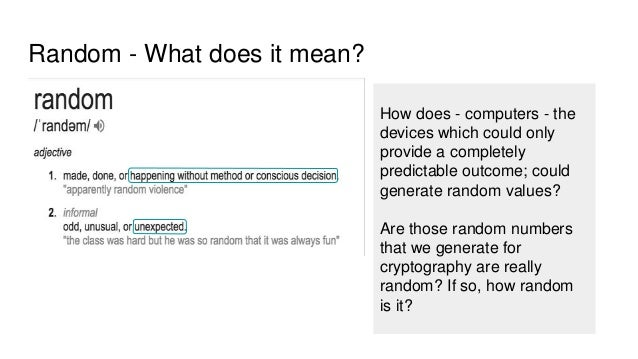 Cryptography - 5 minutes series - Random Numbers
