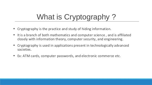 understanding the concept behind cryptography Evolved over the last several decades in the cryptography, operating systems, and networking by understanding the concepts behind the security terminology.