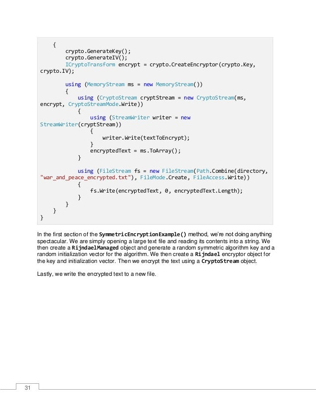 32 Figure 13: Encrypted File If we have a look at the contents of the file, we can see that it has most definitely been en...