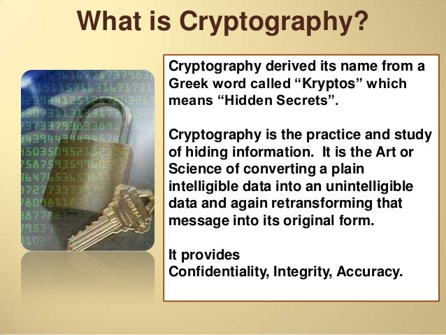 how to get into cryptography