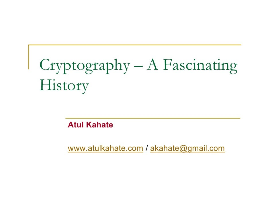 KAHATE CRYPTOGRAPHY DOWNLOAD