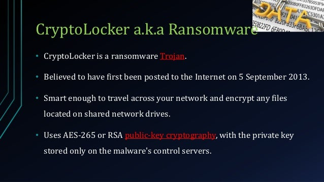 understanding cryptolocker ransomware with a case study