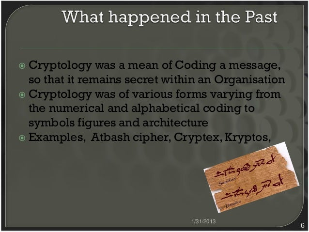 6 Classic Cryptology Ancient