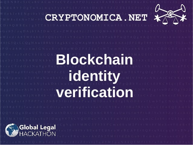 CRYPTONOMICA.NET Blockchain identity verification