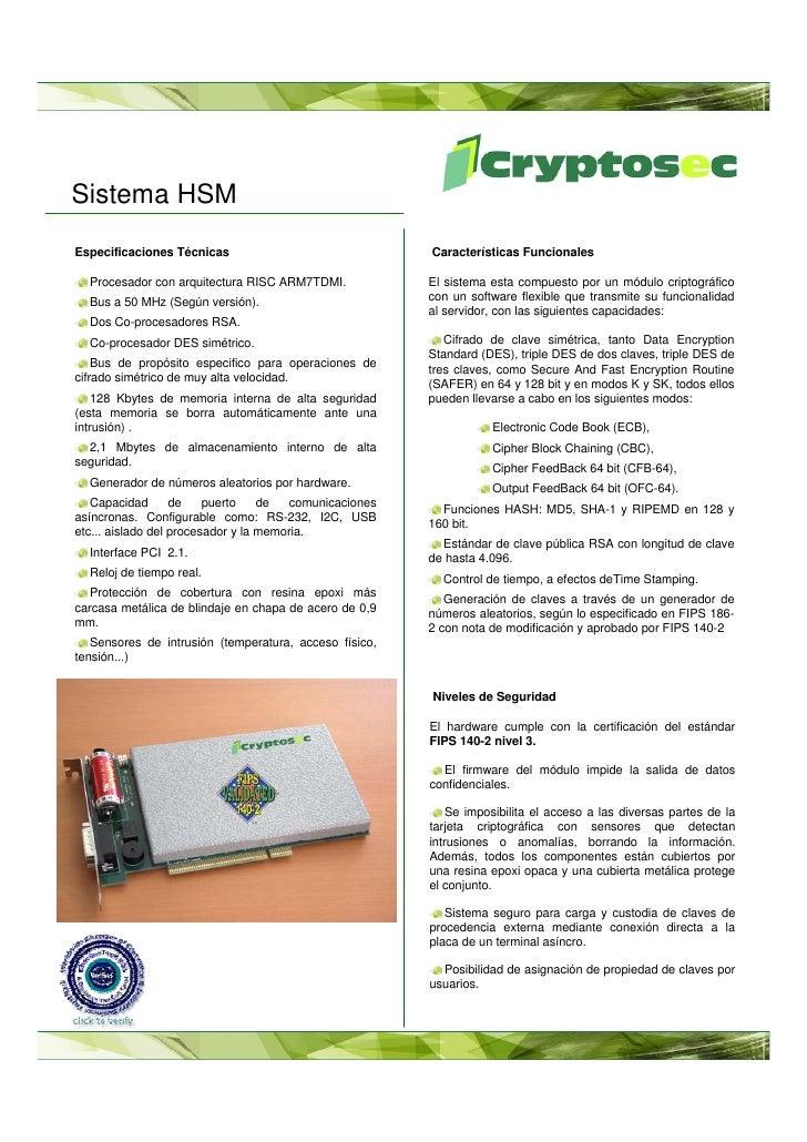 Cryptosec I Sistema Hsm