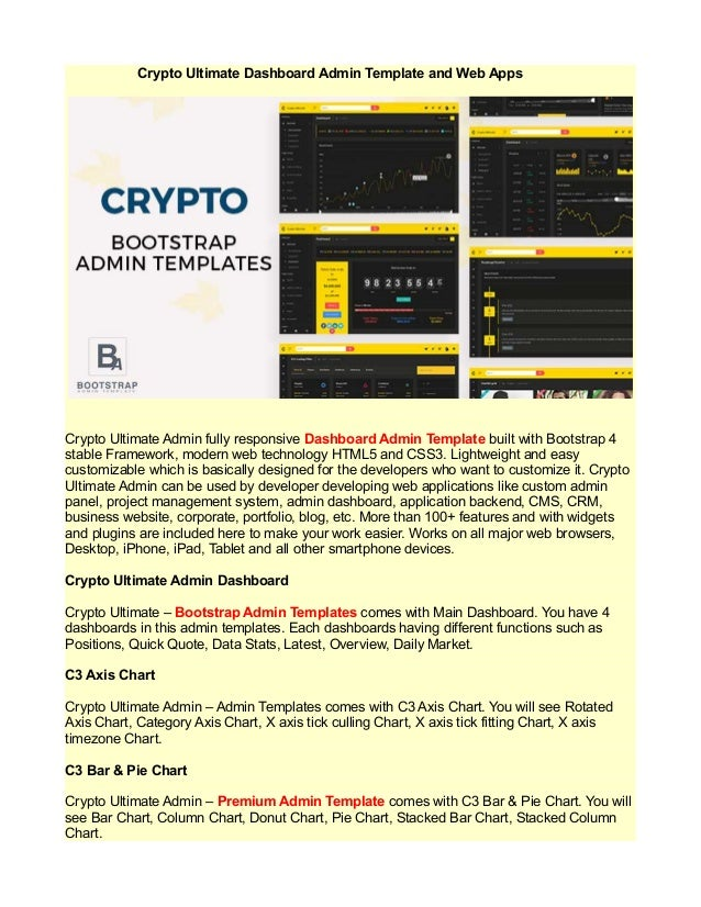 Crypto ultimate dashboard admin template and web apps
