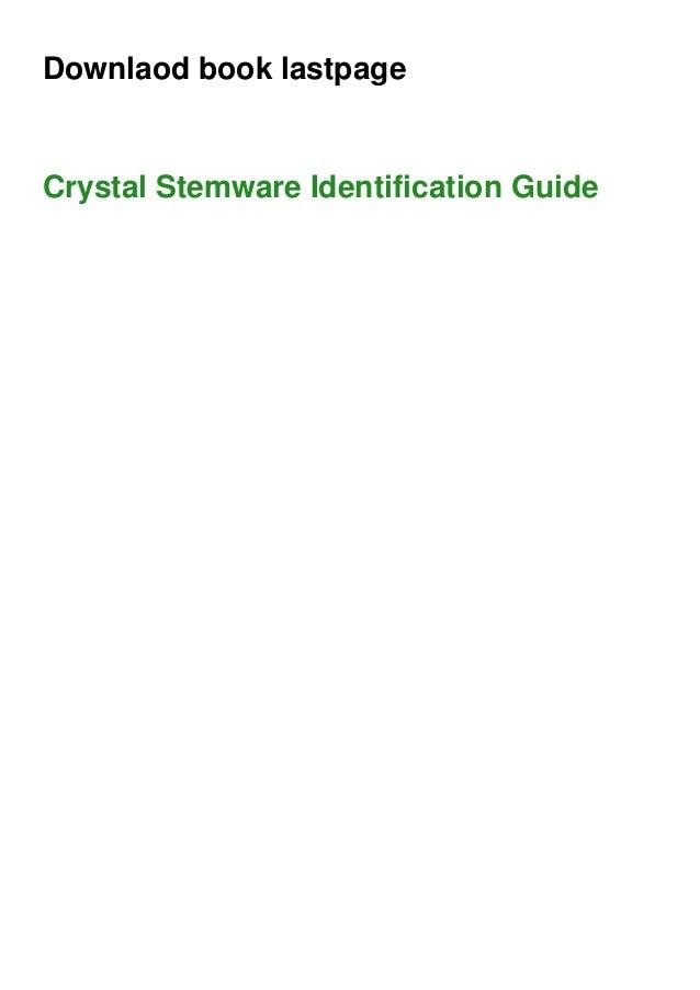 Downlaod book lastpage Crystal Stemware Identification Guide