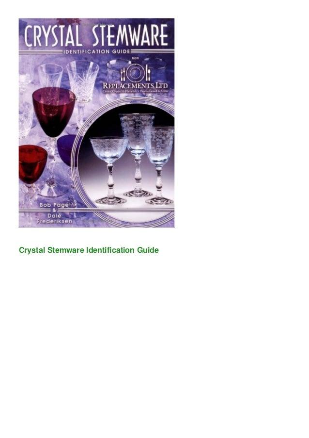 Crystal Stemware Identification Guide