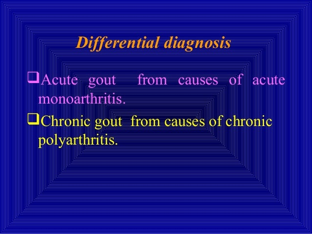 Crystal Deposition Diseases