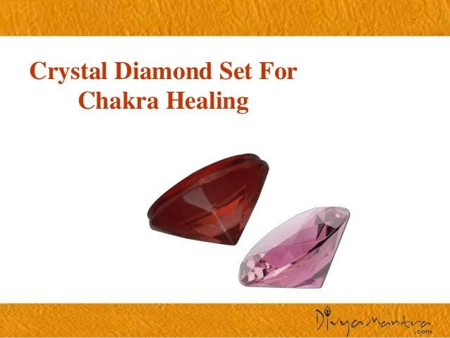 Crystal diamond set for chakra healing