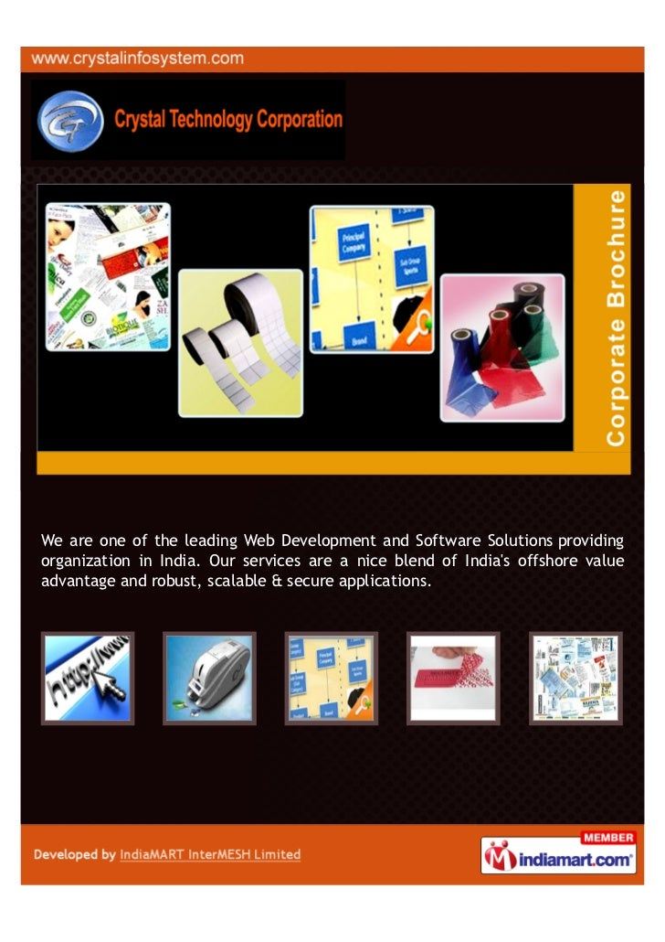 We are one of the leading Web Development and Software Solutions providingorganization in India. Our services are a nice b...