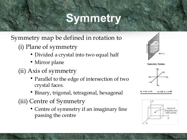 Introduction to crystallography for Meaning of symmetrical