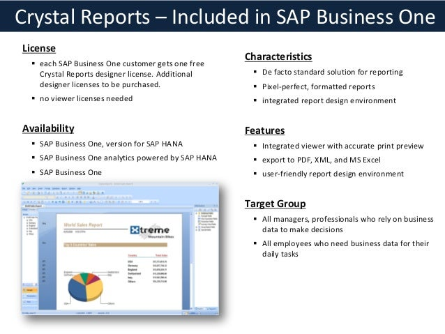 Crystal Reports for Sap Business One - Overview, Free