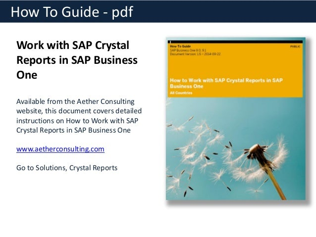 sap crystal reports resume