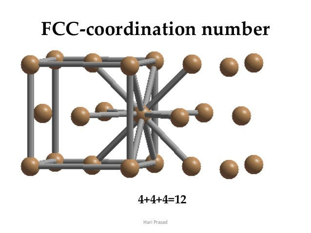 how to calculate coordination number of fcc
