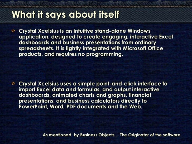 Crystal Xcelsius For Dummies Pdf