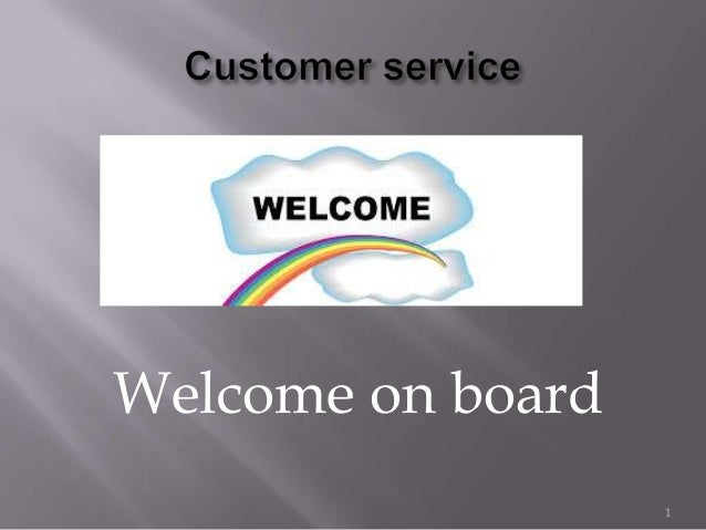Welcome on board1