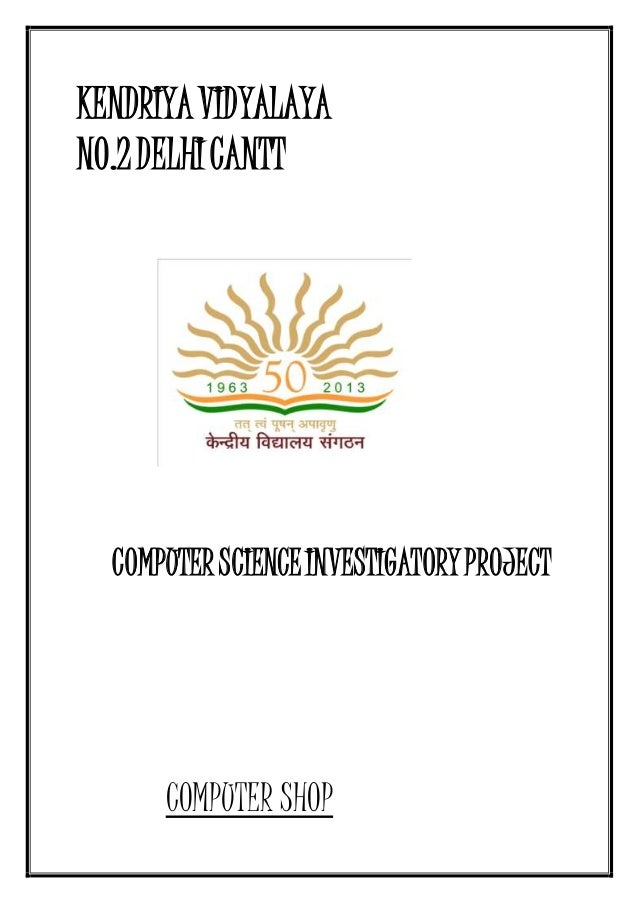 Computer Science Investigatory Projects For Class 12 Cbse Download