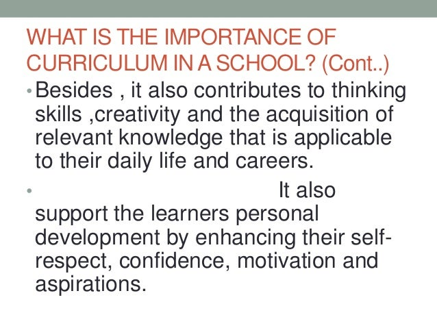 role of teacher in curriculum changes
