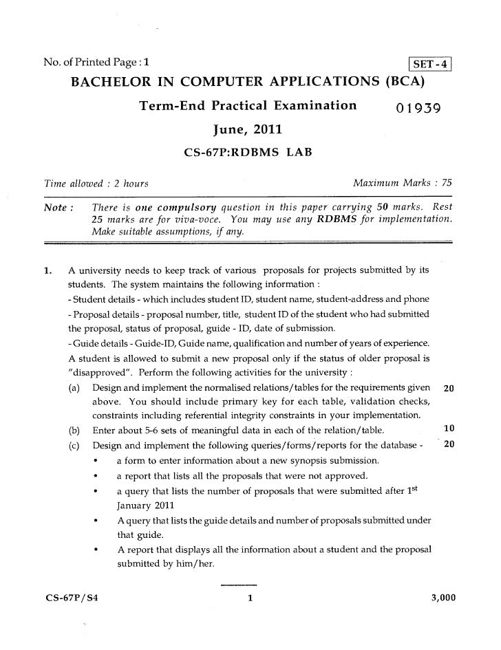 No. of Printed Page : 1                   SET - 4     BACHELOR IN COMPUTER APPLICATIONS (BCA)                     Term-End...