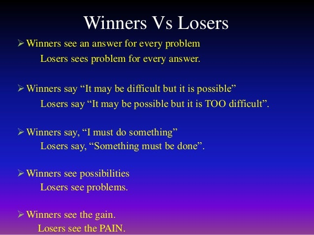 CONCLUSION  Nobody wants to be a looser. Everybody wants to win. This book tells you that 'Positive Attitude' is the key ...