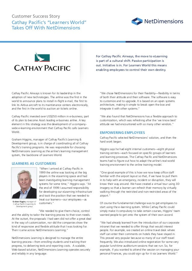 A Business Case Study of Cathay Pacific Airways