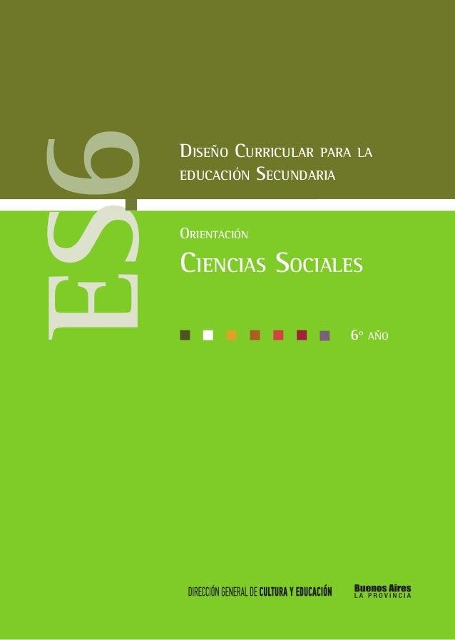 Cs Ciencias Sociales Marco General 6to