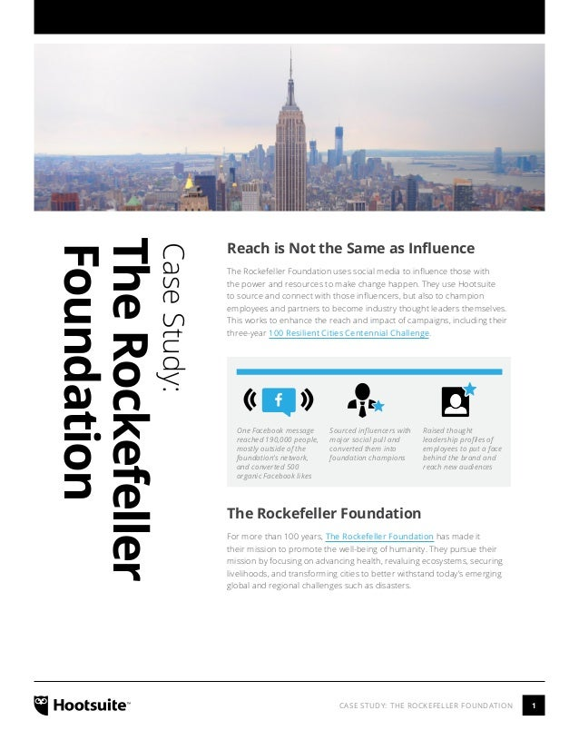 Reach is Not the Same as Influence: The Rockefeller Foundation Case Study