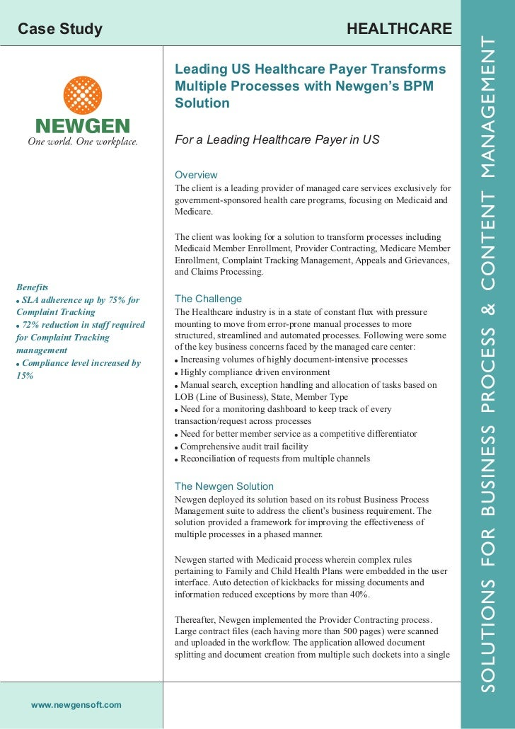 Leading US Healthcare Payer Transforms Multiple Processes with Newgen…