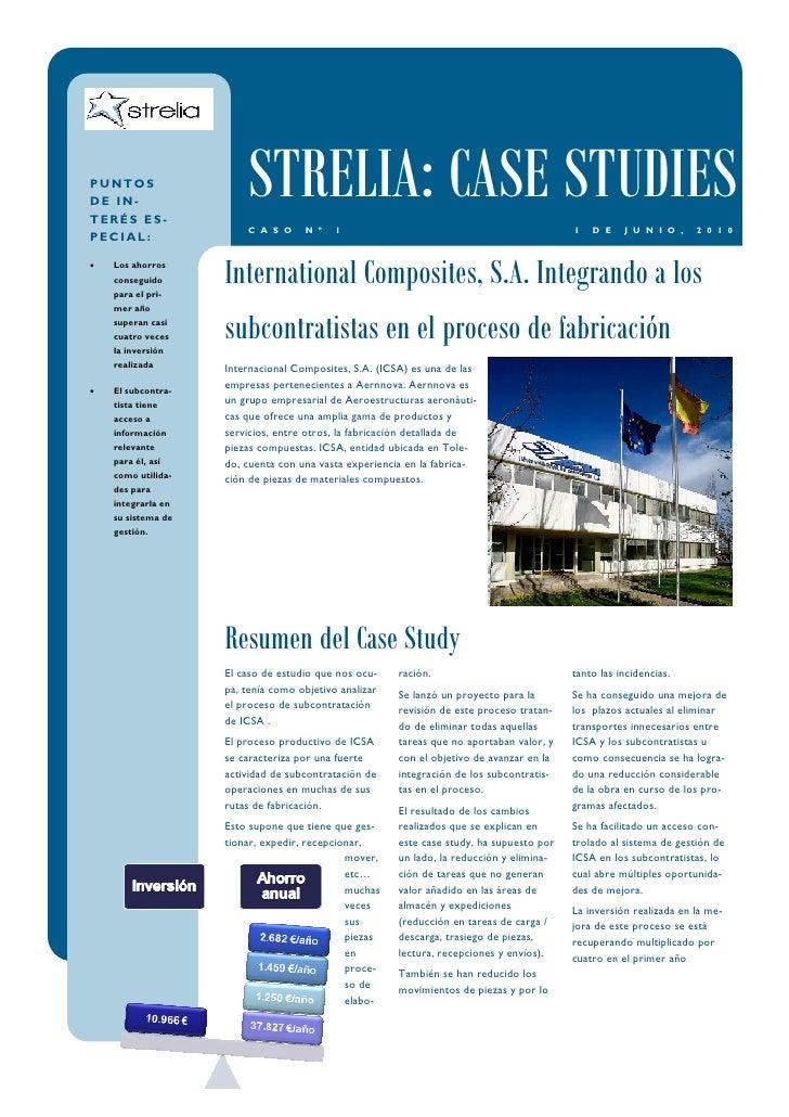 PUNTOS DE IN- TERÉS ES-                         STRELIA: CASE STUDIES                         C A S O     N º    1        ...