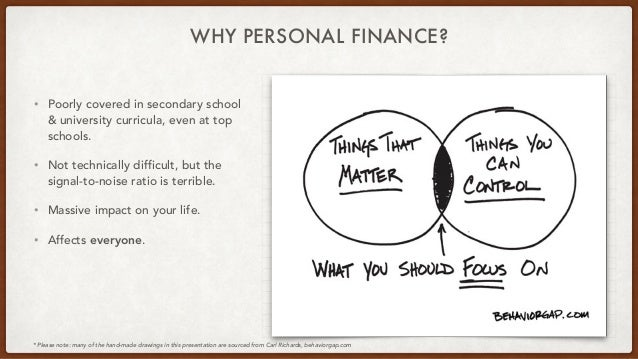 WHY PERSONAL FINANCE? • Poorly covered in secondary school & university curricula, even at top schools. • Not technically ...