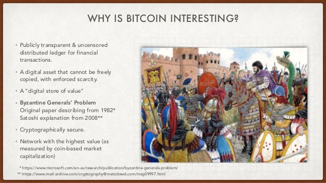 WHY IS BITCOIN INTERESTING? • Publicly transparent & uncensored distributed ledger for financial transactions. • A digital...