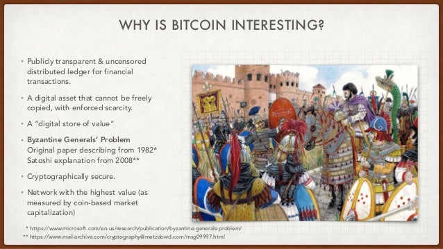 WHY IS BITCOIN INTERESTING? • Publicly transparent & uncensored distributed ledger for financial transactions.   • A digit...