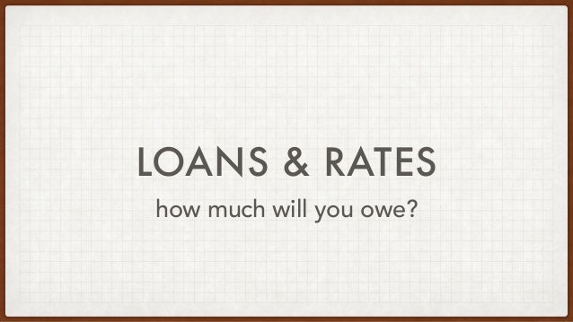 LOANS & RATES how much will you owe?