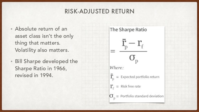 RISK-ADJUSTED RETURN • Absolute return of an asset class isn't the only thing that matters. Volatility also matters. • Bil...