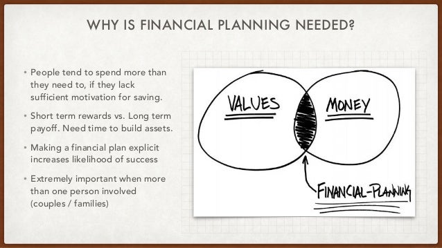 WHY IS FINANCIAL PLANNING NEEDED? • People tend to spend more than they need to, if they lack sufficient motivation for sa...