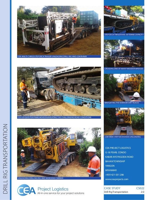 Drill Rig Transportation CEA Project Logistics