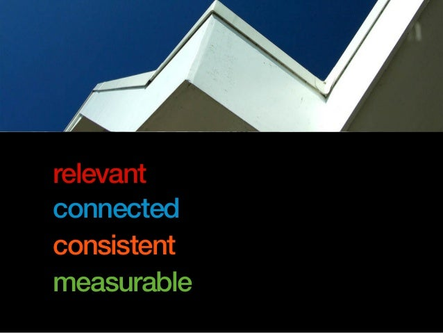 relevant connected consistent measurable