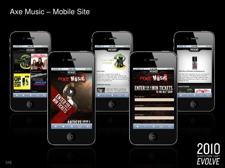Axe Music – Mobile Site<br />AXE<br />