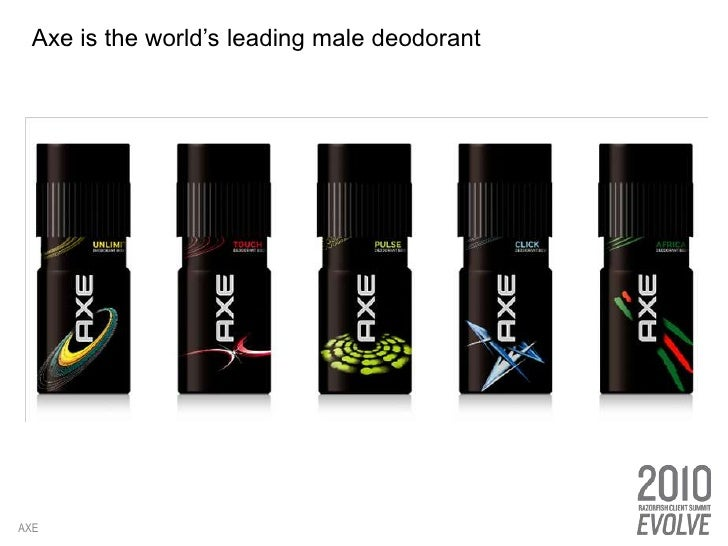 Axe is the world's leading male deodorant<br />AXE<br />