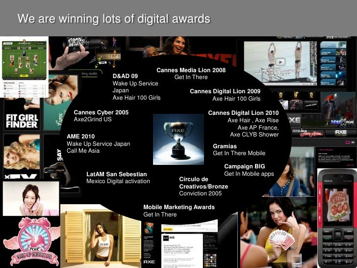 We are winning lots of digital awards<br />Cannes Media Lion 2008<br />Get In There<br />D&AD 09<br />Wake Up Service Japa...