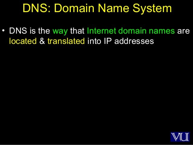 5 DNS: Domain Name System • DNS is the way that Internet domain names are located & translated into IP addresses