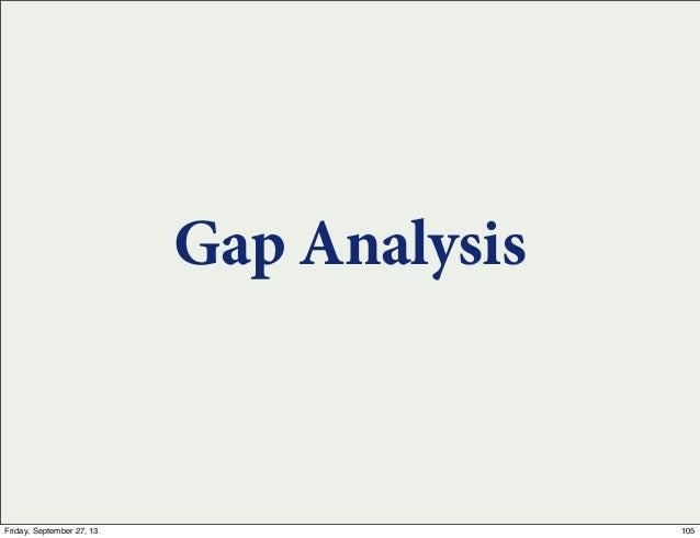 Gap Analysis 105Friday, September 27, 13