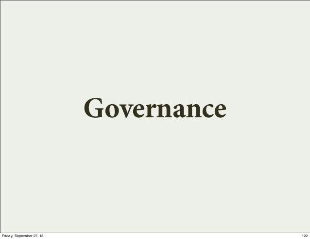 Governance 122Friday, September 27, 13