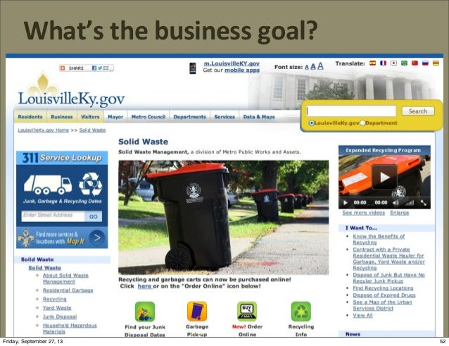 What's  the  business  goal? 52Friday, September 27, 13
